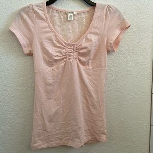 Cinched lace top